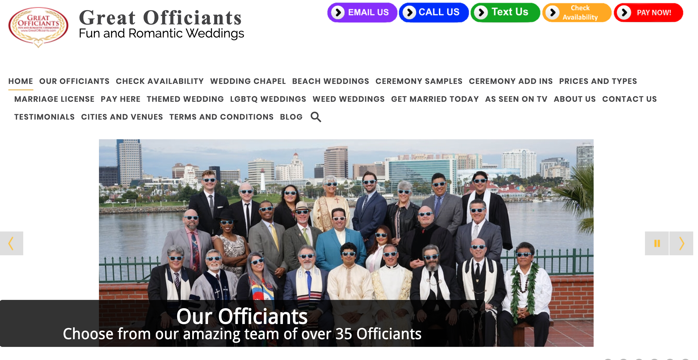 Great Officiants Wedding Officiant Los Angeles