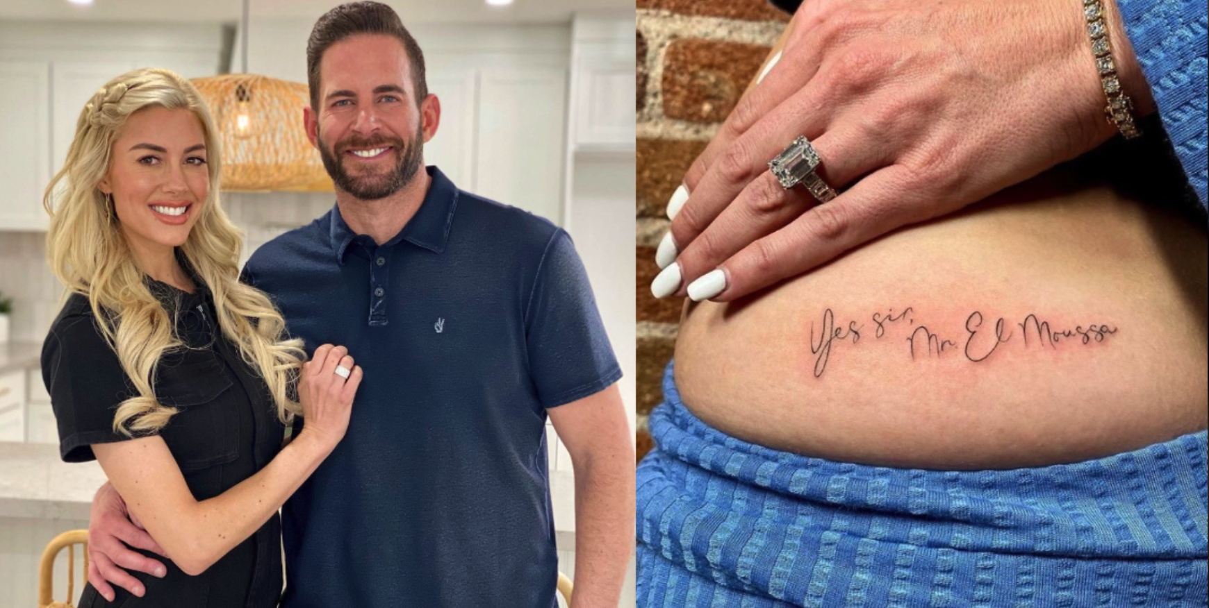 Heather Rae Young Gets Tarek El Moussa's Name Tattooed On Her